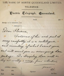 Figure 3: Letter by Derwent Vallance to his sister Florence Mary Walker, c. 1903